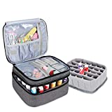 Luxja Nail Polish Carrying Case - Holds 30 Bottles