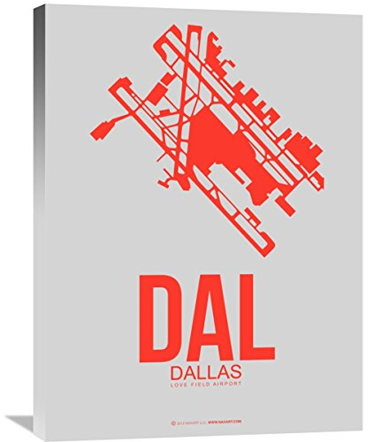 """Naxart Studio """"DAL Dallas Poster 1"""" Giclee on Canvas, 24"""" by 1.5"""" by 32"""" from Naxart Studio"""