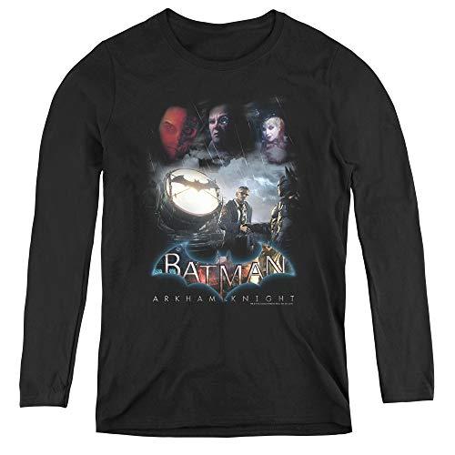 Batman Arkham Knight Villain Storm Adult Long Sleeve T-Shirt for Women, X-Large -