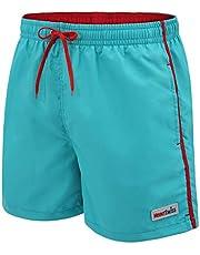 Mount Swiss Dario Zwembroek voor heren, met zijzakken en achterzak, modieuze herenshorts, zwemmen, vrije tijd, watersport, comfortabele zwemshorts in vele kleuren, maat S - 6XL