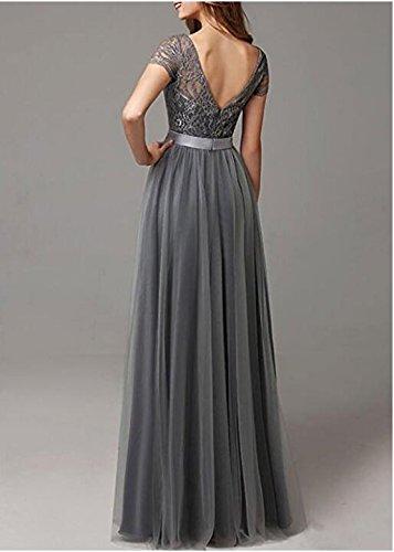 Bridesmaid AK Top Short Burgundy Beauty Chiffon Purple Dresses Lace Wedding Long Sleeves qaUXq