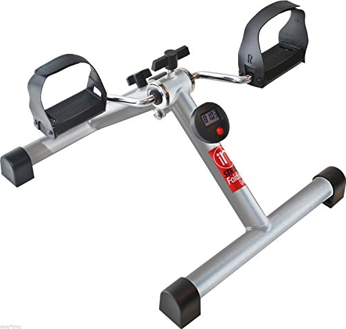Stationary Exercise Bike Compact Pedal Adjustable Tension Portable Folding Cycle by Stamina
