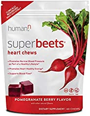 HumanN SuperBeets Heart Chews | Grape Seed Extract and Non-GMO Beet Powder Helps Support Healthy Circulation,