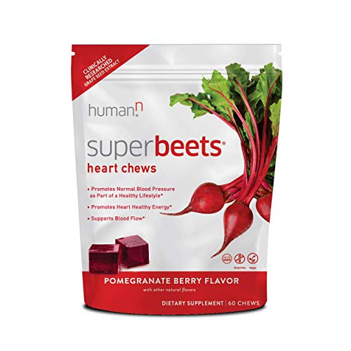 HumanN SuperBeets Heart Chews   Grape Seed Extract and Non-GMO Beet Powder Helps Support Healthy Circulation, Blood…