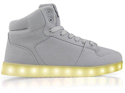Stilisti Elettrici Accendono Le Sneakers Alte In Tela Grigia