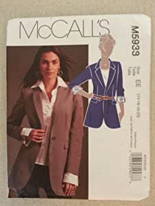 McCall's M5938 Size EE