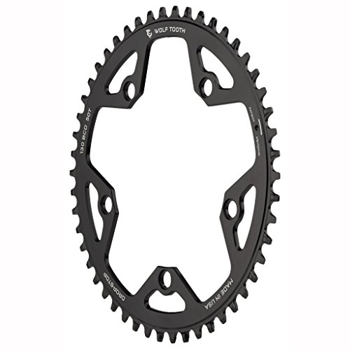 Wolf Tooth Road & Cyclocross Drop Stop Chainring (50t, 130BCD 5-Bolt)