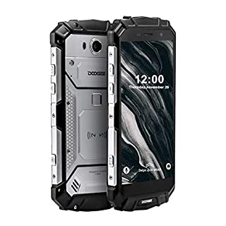 Rugged Mobile Phone Unlocked, DOOGEE S60 Lite Waterproof Smartphone 4G, 4GB+32GB, Dual SIM Free Android 8.1 Cellphone, 5.2 inch FHD Display Phone, Cameras 16MP+8MP, 5580mAh/NFC/Face ID/GPS, Silver