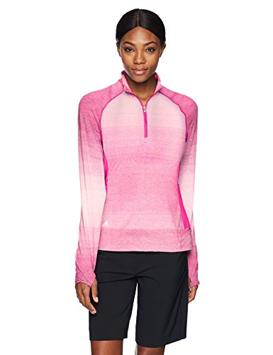 adidas Golf Women's Rangewear 1/2 Zip Jacket, Medium, Shock Pink