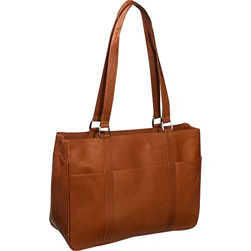 Piel Leather Medium Shopping Bag, Saddle, One Size