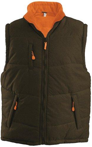 Kariban Herren Bodywarmer Alaska K681 Olive Green/Burnt Orange M