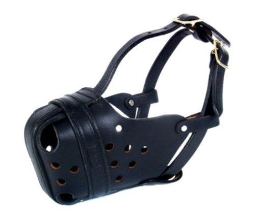 RedLine K9 Large Leather Agitation/Police Dog Muzzle for Large Malinois or Shepherd