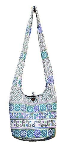 Zip Boho Messenger Bag Sling Ethnic Hippie Thai Purse Crossbody Medium Handmade Hobo Gypsy M1712 Shoulder Cotton 78pgqWFH