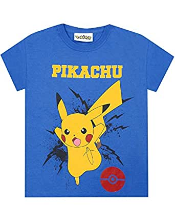 Pokemon Pikachu Bolt Boy's T-Shirt (7-8 Years) Blue