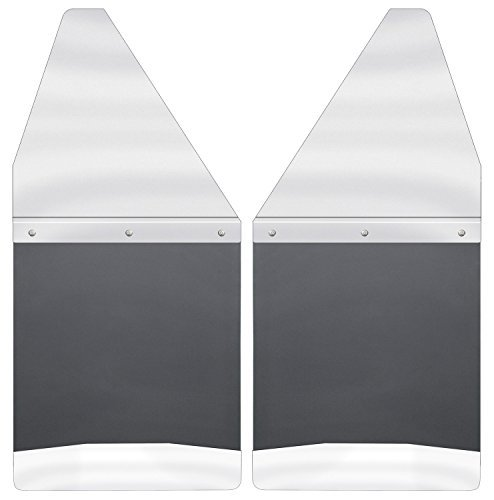 2. Husky Liners 17097 Black Kick Back Mud Flap