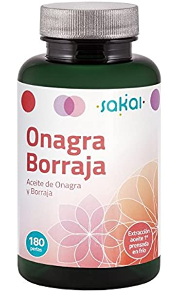 Sakai Onagra y Borraja Complemento Alimenticio - 180 Cápsulas: Amazon.es: Salud y cuidado personal