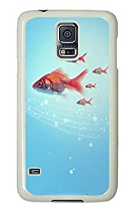 Samsung Galaxy S5 Goldfish PC Custom Samsung Galaxy S5 Case Cover White