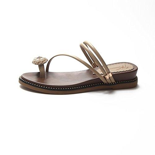 Desgaste Zapatos y la y de Damas' Zapatillas Pendiente ZHANGJIA MsLadies' convergencia Sandalias Dos 39 zqWFg