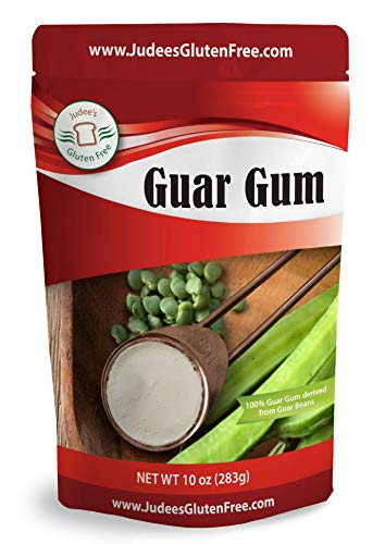 Judee's Guar Gum Powder Gluten Free (10 Oz)- USA Packaged & Filled - Great for Low-Carb, Keto, & Ice Cream Recipes - Dedicated Gluten & Nut Free Facility (5 Oz Starter Size Available)