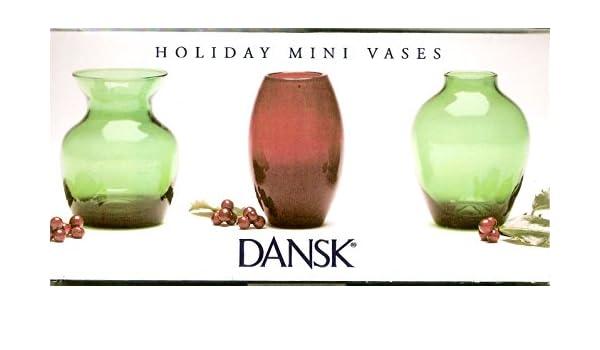 Amazon Dansk Holiday Mini Vases Home Kitchen