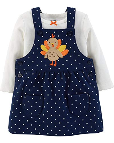 Carter's Baby Girls 2-Piece Thanksgiving Bodysuit & Jumper Set (24 Months)