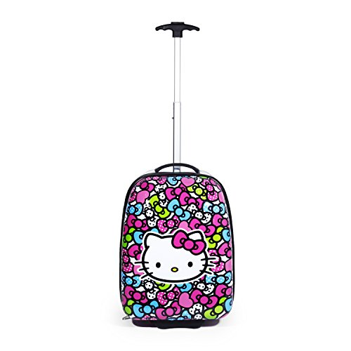 Hello Kitty Rolling Luggage (Hello Kitty Rainbow Bows Hard ABS Pilot Case Luggage)