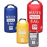 O RLY Dry Bag Waterproof 5L / 10L / 20L / 30L Outdoor Dry Sack Storage Bag for Travelling Rafting Boating Kayaking Running Camping, Gym Fitness