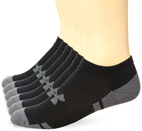 Under Armour Men's Resistor 3.0 No Show Socks, Medium, Black/Graphite by Under Armour