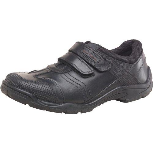 Kids Hush Puppies et Bouclée Noir Junior Chaussures pour enfants