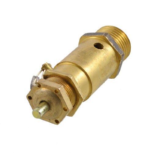 eDealMax 21mm Rosca 1 MPa latón tono de alivio de presión de la válvula de aire del compresor - - Amazon.com