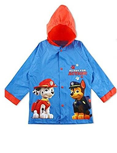 Paw Patrol Ready For Action Rain Jacket Hoodie Slicker (M 4-5)