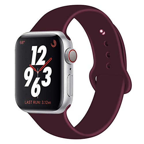 - Chumei Sporty Band Compatible with Apple Watch, Soft Silicone Replacement Wristband Strap Band for iWatch Series 1 Series 2 Series 3 Series 4 (42MM/44MM S/M Rose Red)