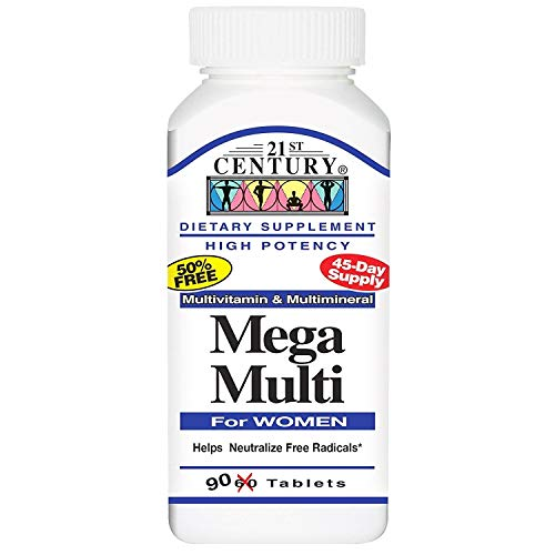 21st Century Mega Multi For Women - 90 Tablets, Pack of 3