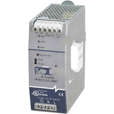 SOLA-HD SDN5-24-100C Power Supply; AC-DC; 24V@5A; 85-264V In; Enclosed; DIN Rail Mnt; PFC; SDN-C Series
