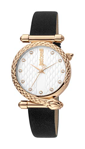 Just Cavalli JC1L075L0045 316L Stainless Steel Mineral Crystal Tang Buckle Watch