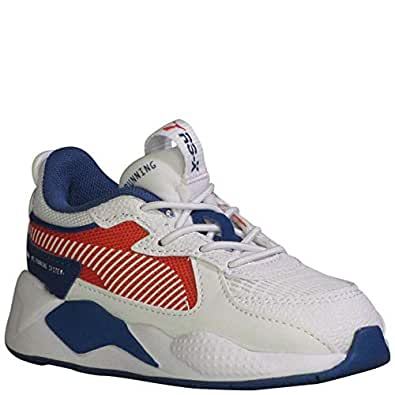 Puma Toddler RS-X Hard Drive AC Boys Fashion Sneakers Puma White/High Risk Red 6 Toddler