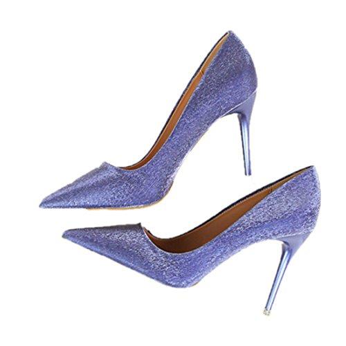 Frieda Richard Women Pumps Women Buckle Strap Shoes 10 cm High Heels Chaussure blue 5