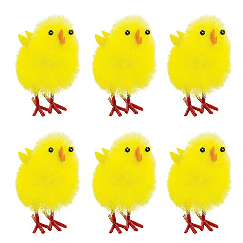 Amscan 390882 Easter Chenille Chicks, 1 1/2