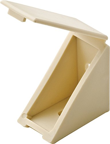 MD Group Plastic Angle Brackets (Set of 50), 1.32'' x .75'' x 1.32'' x 1.5 lbs, White