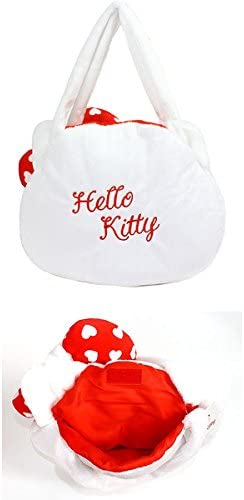 Sanrio Hello Kitty Face shaped Tote Bag White /& Red D4253 214-752