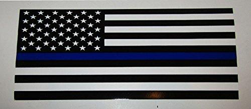 (K's Novelties Wholesale Lot 6 USA Police Memorial Blue Line Flag Sticker Decal 3.75