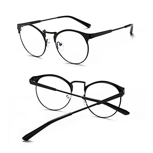 e696741240 Delaying Anti-azul metal redondo marco claro lente ojo retro gafas  Estructura de cuadro completo