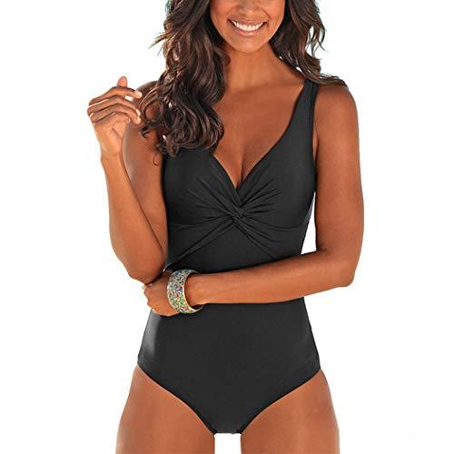 Donna Ampia Femminile Costumi Bagno Intero Vestibilità Nero Da Costume Spiaggia Cinghia Monokini Ayaly Profonda xTzgtAn