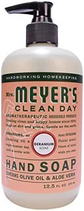 Mrs. Meyer's Hand Soap Geranium 12.5 Fluid Ounce