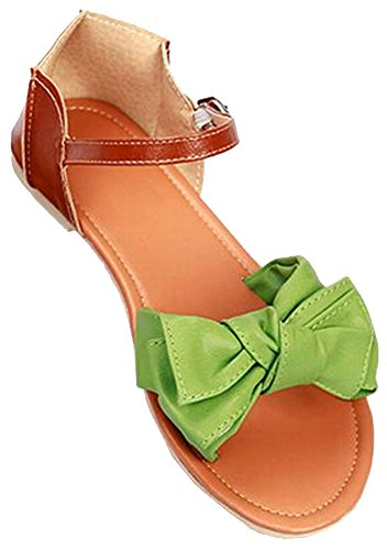 2015 neue Frauen-Sommer-Sandalen Flats Sandalen Flip Flops Patchwork Designer Ladies Plattform-Sandelholze Größe 34-42 grün