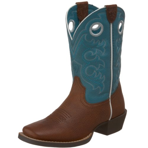 Kids' Crossfire Western Boot (Toddler/Little Kid/Big Kid),Brown Oiled Rowdy/Turquoise,6 M US Big Kid