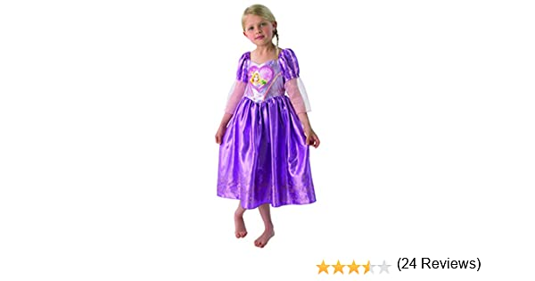 Generique - Disfraz Rapunzel corazón niña Deluxe: Amazon.es ...