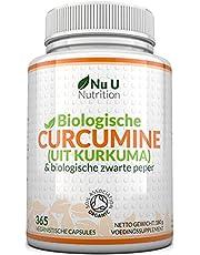 Krachtige Biologische Kurkuma 600 mg, 365 Capsules voor 12 Maanden, Biologische Kurkuma en Zwarte Peper, Veganistische Capsules, Goedgekeurd door Soil Association, Gemaakt in het Verenigd Koninkrijk