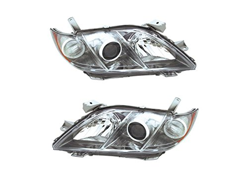 Headlights Headlamps for 07-08 Toyota Camry SE Left Right Replacement Set ()