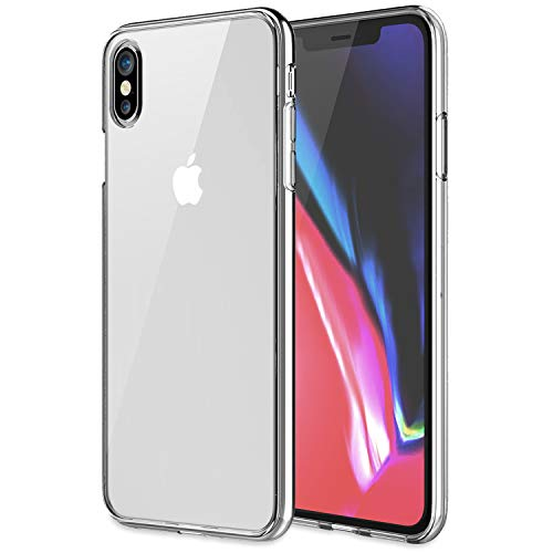 KHOMO - iPhone Xs MAX 2018 6.5-inch Display - [Hybrid] Bumper Case with Clear - Scratch Resistant Back